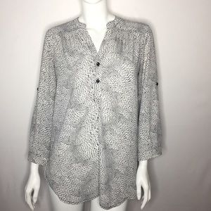 Halogen size small water circle long sleeve top
